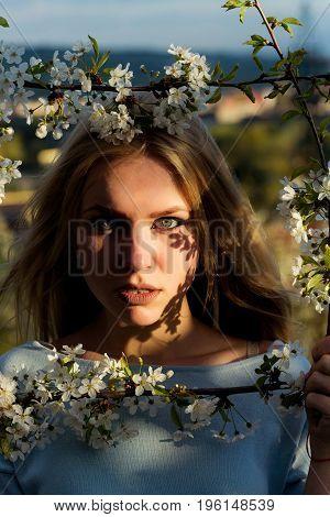 Girl In Spring.