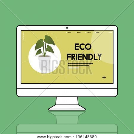 Computer with environmental graphic screen