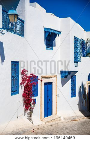 A Typical Mediterranean Style In Sidi Bou Said, A Town On The Coast Just A Few Miles From Tunis