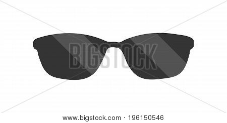 Black sunglasses with highlights. Vector illustration. White background. Eps10.