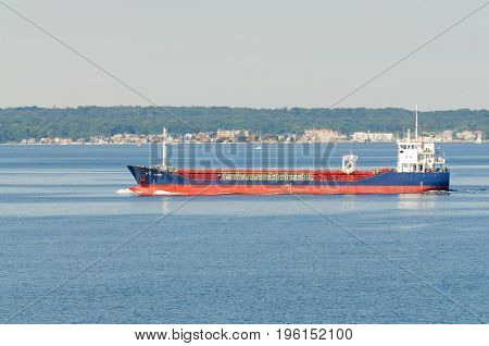 Copenhagen, Denmark-July 14, 2017: Container ship