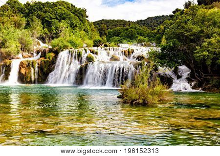 Krka waterfall in the Croatian national park