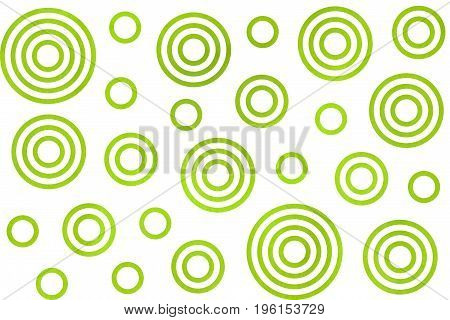 Watercolor Circles Pattern.