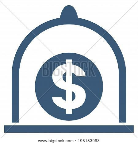 Dollar Standard vector icon. Flat blue symbol. Pictogram is isolated on a white background. Designed for web and software interfaces.