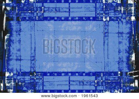 Grunge Film Strips Black And Blue