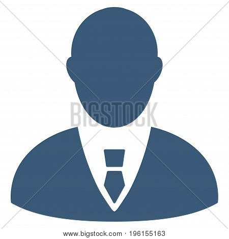 Manager vector icon. Flat blue symbol. Pictogram is isolated on a white background. Designed for web and software interfaces.
