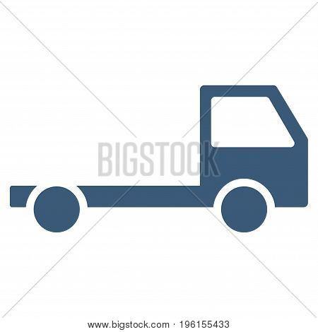 Truck Chassis vector icon. Flat blue symbol. Pictogram is isolated on a white background. Designed for web and software interfaces.