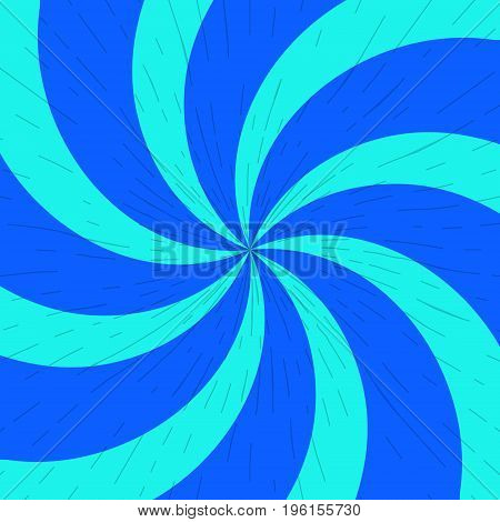 Blue and light-blue twirl background with scratch. Vector bg.