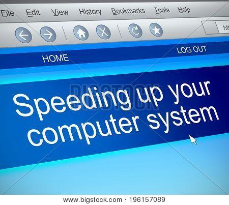 Speeding Up Computer Concept.