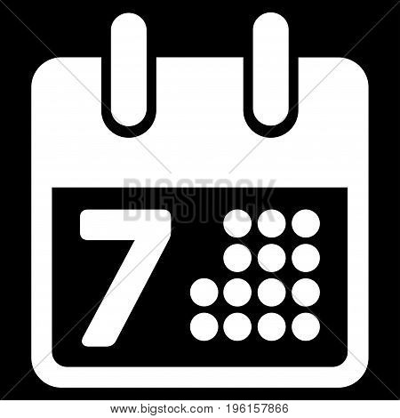 Calendar Day Page vector icon. Flat white symbol. Pictogram is isolated on a black background. Designed for web and software interfaces.