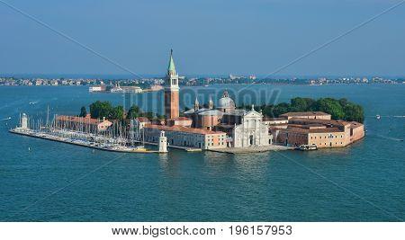 San Giorgio Maggiore Island in Venice Lagoon