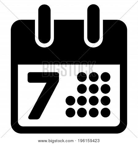 Calendar Day Page vector icon. Flat black symbol. Pictogram is isolated on a white background. Designed for web and software interfaces.