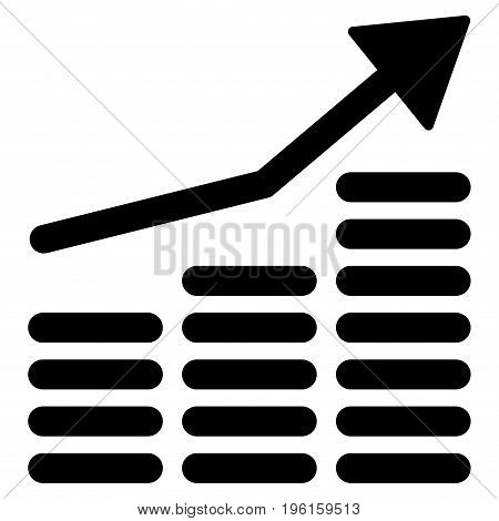 Coins Diagram vector icon. Flat black symbol. Pictogram is isolated on a white background. Designed for web and software interfaces.