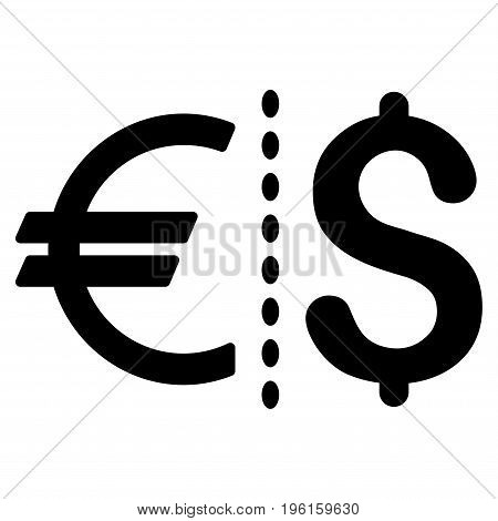 Currency vector icon. Flat black symbol. Pictogram is isolated on a white background. Designed for web and software interfaces.