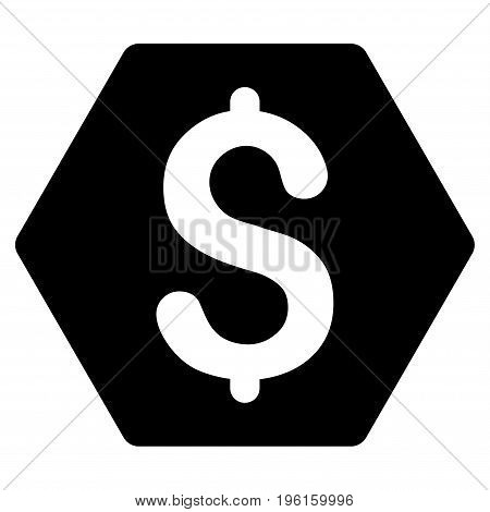 Finance vector icon. Flat black symbol. Pictogram is isolated on a white background. Designed for web and software interfaces.