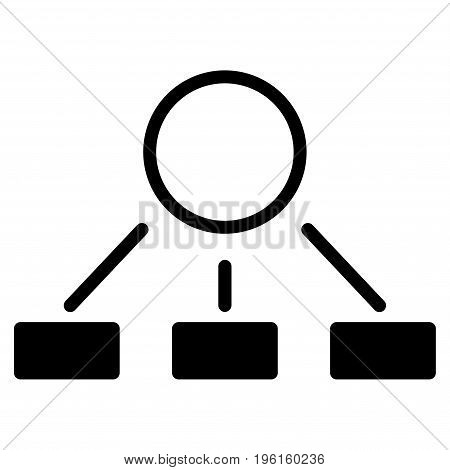 Hierarchy vector icon. Flat black symbol. Pictogram is isolated on a white background. Designed for web and software interfaces.