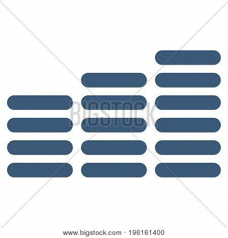 Coin Columns vector icon. Flat blue symbol. Pictogram is isolated on a white background. Designed for web and software interfaces.