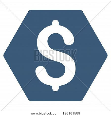 Finance vector icon. Flat blue symbol. Pictogram is isolated on a white background. Designed for web and software interfaces.