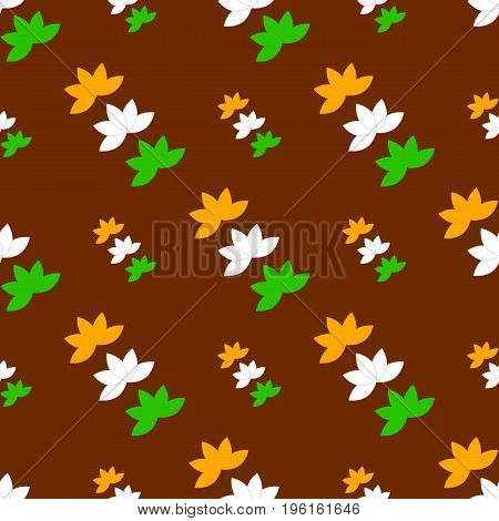 Independence Day India creative vector illustration in national flag seamless pattern colour republic country flag indian holiday. Concept for india independence day celebration.