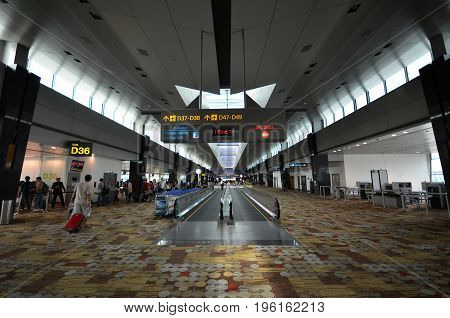 Terminal 1 In Changi Airport, Singapore