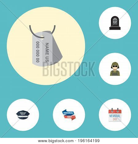 Flat Icons Military Man, History, Identity And Other Vector Elements