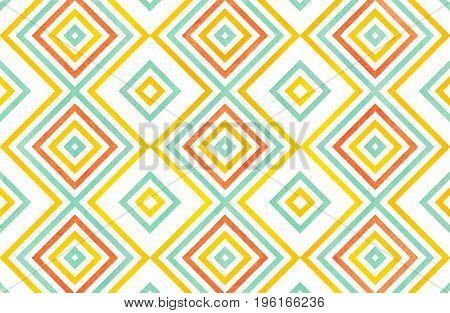 Watercolor Geometrical Pattern.