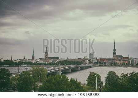 Panorama Of Riga City Cente