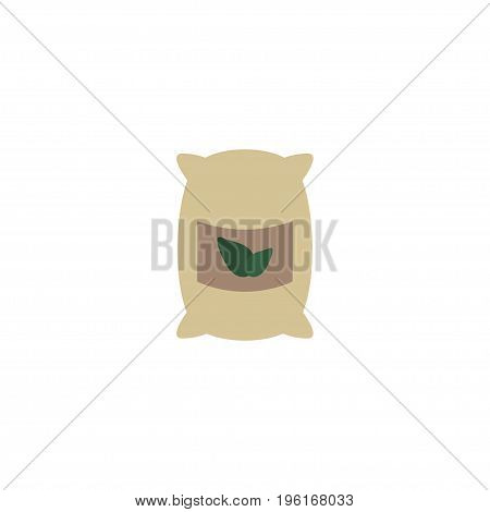 Flat Icon Grown Bags Element. Vector Illustration Of Flat Icon Sack Isolated On Clean Background