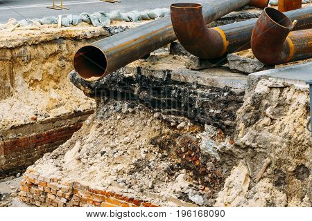 Repair of roads and underground water pipes