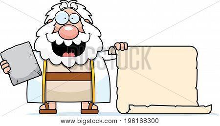 Cartoon Moses Scroll