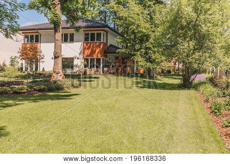 Sunny Terrace, Garden And Lawn