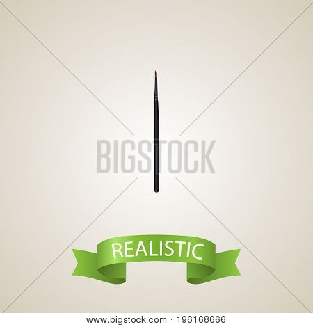 Realistic Cosmetic Stick Element. Vector Illustration Of Realistic Brush Isolated On Clean Background