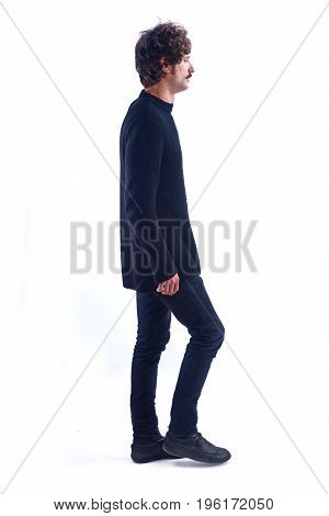 Man Walking And On A White Background