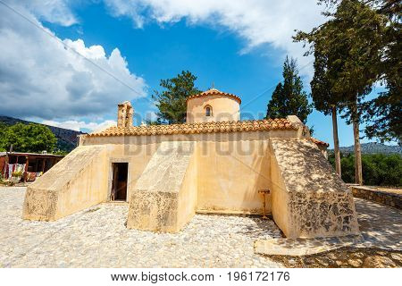 The Church Panagia Kera In The Village Kritsa, Crete, Greece