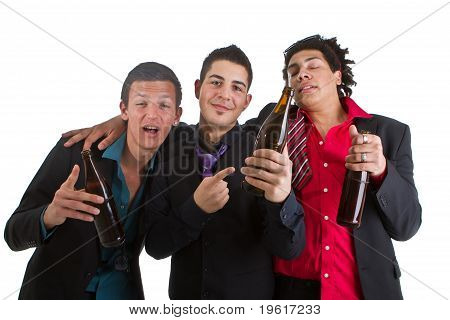Three Amigos Partying With Beer