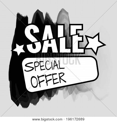 Grunge ink design big sale stickers. Catching signage. Vector illustrations for online shopping product promotions website and mobile website badges ads print material.