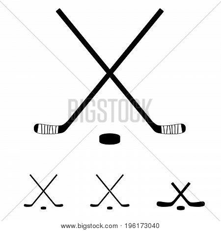 Hockey Sticks Set Icon Illustration