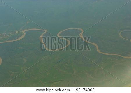 Top View On A River