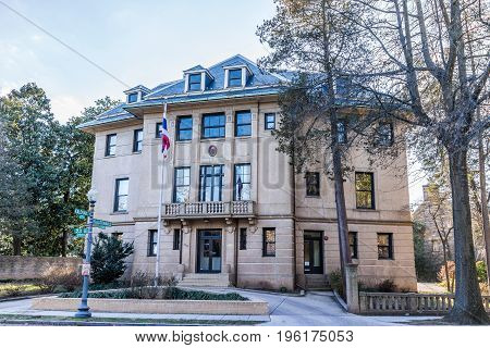 Washington DC USA - February 5 2017: Royal Thai embassy in Kalorama neighborhood