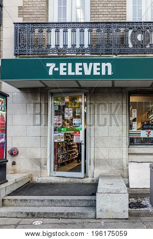 Washington Dc, Usa - February 5, 2017: 7-eleven Convenience Store On Dupont Circle