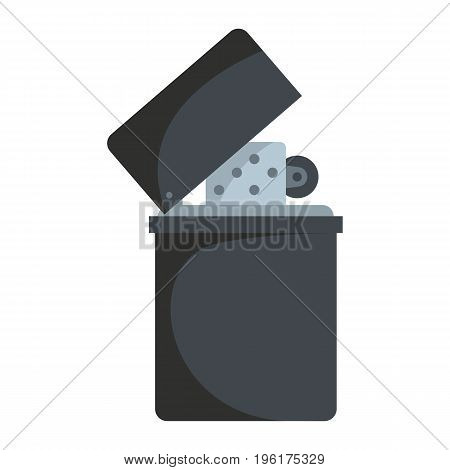 Lighter vector icon in flat cartoon style isolated on white background for web