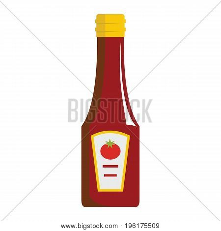 Ketchup icon isolated on white background. Cartoon ketchup bottle. Ketchup vector illustration for web