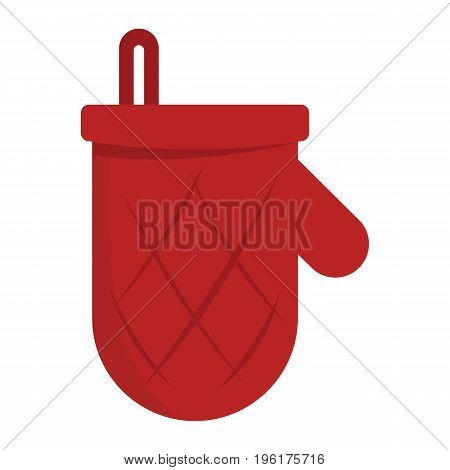 Potholder mitten for barbeque party icon isolated on white background. Potholder mitten for barbeque design and web