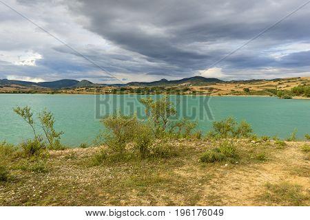 The Alloz Reservoir In Lerate, Navarra, Spain