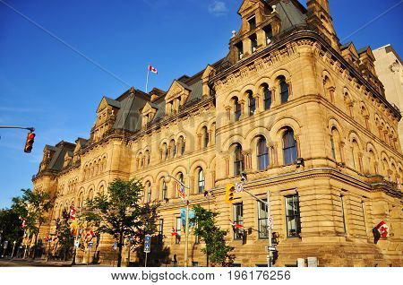 Historic Langevin Block in downtown Ottawa, Ontario, Canada.