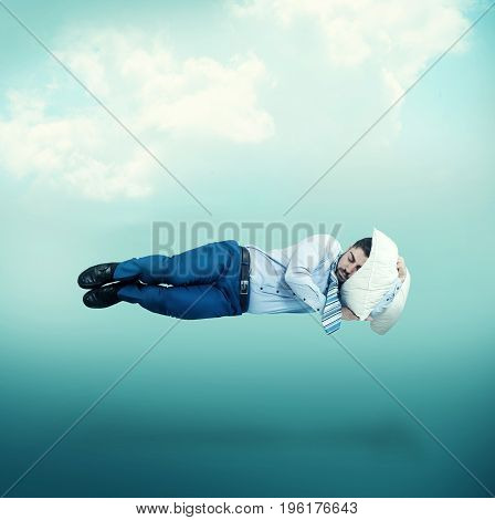 The man floating in mid-air while sleeping.