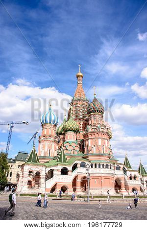 Moscow - July 17, 2017:st Basil's Cathedral On Red Square, Moscow, Russia