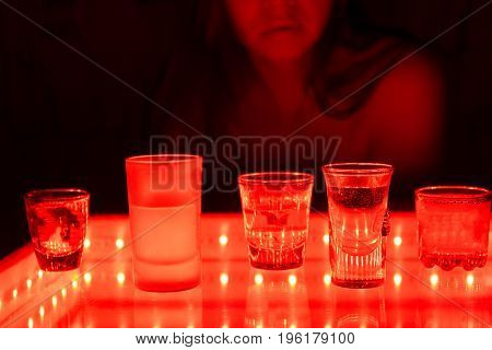 Young Woman In A Strip Bar