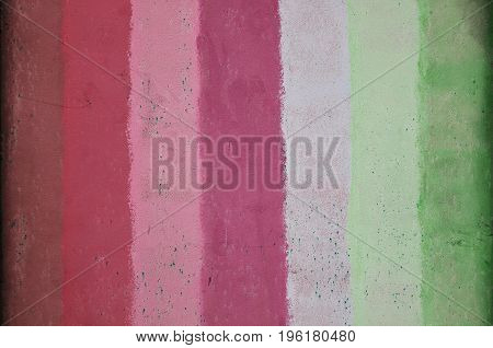 Texture Of An Old Metal Wall, Painted In Several Different Colors