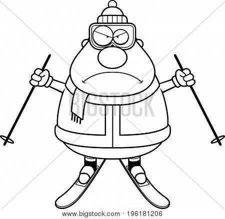 Angry Cartoon Skier